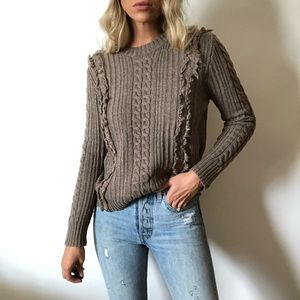 {Chelsea&Violet} fringe cable knit sweater